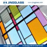 Precio de fabricante chino aislador Tempered teñido colorido al por mayor del vidrio laminado barato
