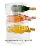 Estante de acrílico de la botella de la calidad estupenda para 8 botellas