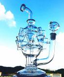 Conduites d'eau de fumage en verre de percolateur de tornade de trou, la meilleure pipe en verre d'usine de système de qualité de vente en gros