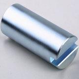 Покрынный Zn магнит NdFeB клина постоянный с зенкованным отверстием