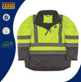 Изолированная высокая куртка Workwear безопасности куртки визави