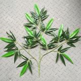 Folha de bambu do toque real artificial para a decoração