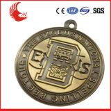 Fabricante de fundición a presión a troquel de la medalla de oro de la medalla de la aleación del cinc