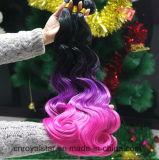 Neues Entwurfs-synthetisches Haar-einschlagkarosserien-Welle Hiar Menschenhaar