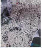 Da tela poli nova do laço do vestuário do algodão do projeto de 004 formas laço poli