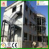Bâtiment de construction métallique en acier à construction facile avec mur de Galss