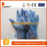 Guantes azules Dpv702 de la seguridad del guante del examen del vinilo