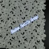 Tela del cordón del bordado de la tela de la alta calidad
