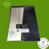100PCS/Bag vara da fibra do difusor da lingüeta do Rattan preto/branco 4mmx30cm do poliéster, vara de lingüeta do aroma