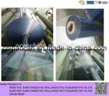 Carrete de película plástico del PVC del claro de 500 Mircon para Thermoforming