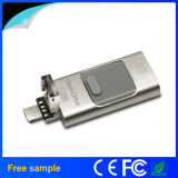 100% Real Capacity 64 Go 128 Go Métal 3 en 1 OTG USB Flash Drive