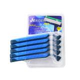 Blaues Schaufel Disaposable Hotel-Rasiermesser des Gummi-3 (JG-S900)