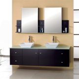 Mueble de pared moderno para lavabo doble