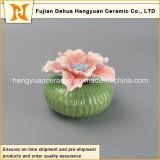 Bruciatore di ceramica della bottiglia di profumo con la protezione del fiore