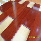 Suelo de madera sólido del color de la teca de caoba del Brasil