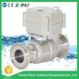 voie 230V 2 robinet à tournant sphérique sanitaire rapide électrique de robinet à tournant sphérique d'acier inoxydable de contrôle électrique de 1 pouce (T25-S2-C-Q)