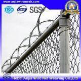 Fio farpado revestido galvanizado de alta elasticidade do ferro do PVC para a segurança