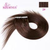 毛、バージンの人間のRemyの毛の拡張の6A等級テープ