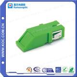 Adaptador óptico del Sc de la fibra verde con el obturador