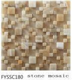Pulido Naturaleza mosaico de piedra de la pared de fondo de Televisión (Fyssc180)