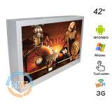 Pantalla del indicador digital de la publicidad al aire libre del montaje de la pared de 42 pulgadas (MW-421ODSP)