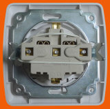 Cover ABS Material를 가진 백색 Simple Euro Wall Socket