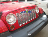Jeep WranglerのためのアクセサリRed Black Silver Car Front Billet Grille