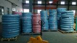 El alambre de acero tejido reforzó el manguito de goma hidráulico cubierto caucho (SAE100 R1-13at)