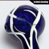 Tubo coloreado del vidrio de la cuchara de los tubos que fuman