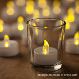 Желтая мелькая свечка света чая батареи СИД Tealight
