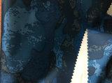 TPUの乳白色のコーティングが付いているリサイクルされた印刷された繭紬ファブリックダイヤモンドの小切手の衣服ファブリック