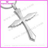 Bijou d'incinération pour les pendants en travers de cendres avec les ailes Ijd9654