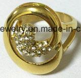 acier inoxydable 316L avec la boucle de bijou de mode de la CZ (SCR2958)