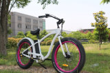 750With500W E-Bici ad alta velocità gigante, 26 '' bici elettrica del pneumatico F/R di pollice *4.0 della montagna grassa del freno a disco