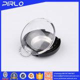 Vaso 1g della polvere di trucco della protezione di vibrazione mini del vaso cosmetico di plastica superiore del nero