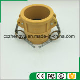 Accoppiamenti di plastica/rapidamente del Camlock accoppiamenti (digitati), colore giallo