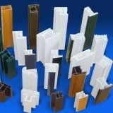 Profilo della finestra di UPVC nel profilo differente del PVC delle sezioni