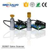 Легковеса гальванометр головки развертки лазера Js2807 эффективно сетноой-аналогов для машины маркировки лазера