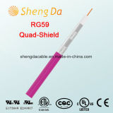 Rg59 Vierling Shield Coaxial Cable voor CATV Low - vermindering