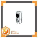 Braçadeira de vidro do conetor da tubulação da porta do chuveiro redondo médio do perfurador