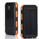 La Banca impermeabile di energia solare IP68 di nuovo arrivo con il caricatore solare Shockproof della bussola