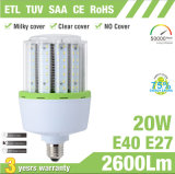 20W Promotion Price SMD2835 LED Corn Bulb met Clear Cover