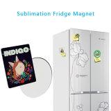 Imán de goma del refrigerador del óvalo de la sublimación con los espacios en blanco