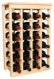 ホーム装飾の芸術およびクラフトのための木のワインラック木の表示