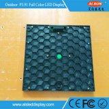 Alto visualización de LED curvada de la definición P3.91mm alquiler al aire libre