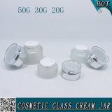 50g 30g 20g Zylinder bereiftes Kosmetik-Glas-Glas mit Acrylkappe