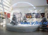 Ясно Надувные Рождество Human Размер Snow Globe