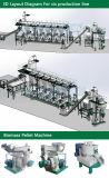 Linha de madeira da pelota da biomassa completa aprovada do GV do ISO do CE