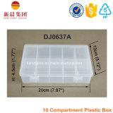 Caixa desobstruída organizada plástico de 10 compartimentos