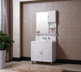 Floor-Mounted Moderne Kabinet van de Ijdelheid van de Badkamers van het Meubilair van de badkamers van het Eiken Hout